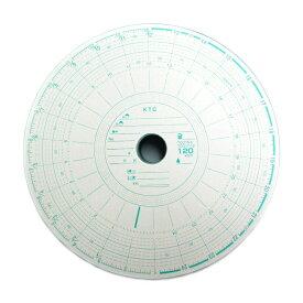 KM-26H-120K チャート紙1日26時間用 レボ回転計無 丸型穴(100枚入)