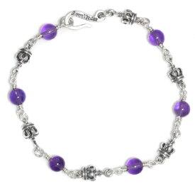 ロイヤルオーダー【公式】【ブレスレット】Tiny Royal Crown & Amethyst beads Alternate【ROYAL ORDER】