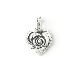 ロイヤルオーダー【公式】【ペンダント】Small Heart Rose w/Pave CZ【ROYAL ORDER