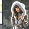 Size gift search 02P18Jun16 where I look after \ A tree Mao, and wearing / coat outer fur coat outer fur fur lady's coat fur fur knit mink Fox poncho cape mouton bolero cardigan down coat is big