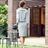 It is tweed office casual clothes for 50 generations for Seven-Five-Three Festival ceremony suit Lady's omiyamairi color four circle entering a kindergarten-type entrance ceremony graduation ceremony graduation ceremony graduating students' party to hono