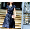 Invite 02P18Jun16 with the sleeve which there is a one-piece dress four circle second party party setup bride maid formal dress Mrs. Lady's sleeve in 30s in 40s in 50s in in party dress dress brei maid party dress wedding ceremony summer
