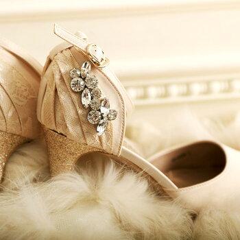 ラインストーンレースサンダル「SH536」靴パンプスレディース結婚式二次会パーティーパーティ結婚式大人フォーマル雑誌掲載お呼ばれサンダル20代30代40代50代【楽ギフ_包装】02P18Jun16