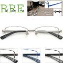 メガネ 度付き 鼻パッド付 ハーフリム(ナイロール メタル) RF3108-52 レンズ付き眼鏡セット シンプルデザイン めがね…