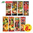 メール便送料無料 五木食品 選べる6袋 棒ラーメン(乾めん)(代引き・日時指定・ギフト包装不可)