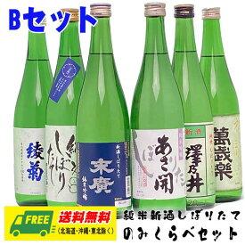 新酒しぼりたて(純米)飲みくらべ 6種セット Bセット 720ml×6本 地域限定送料無料
