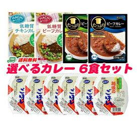 ハチ食品 カレーライス セット (カレーは選べます)6食分 地域限定送料無料