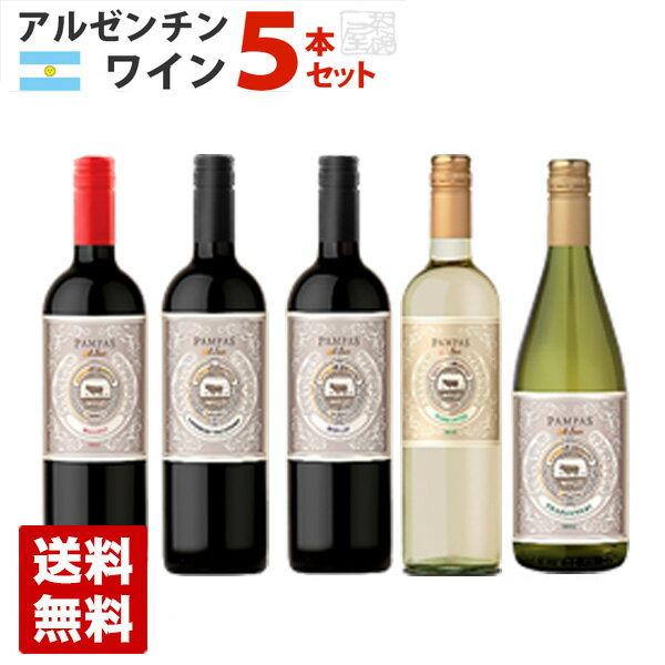 アルゼンチンワイン ブドウ品種 飲み比べ 5本セット 赤ワイン 白ワイン 送料無料