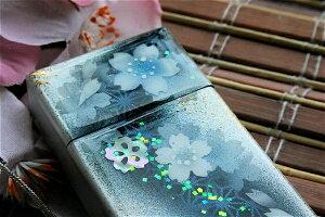 【桜色】携帯灰皿「瀬」匠の技!桜色限定シガレットケース!職人の手作り!和柄オリジナル商品です!
