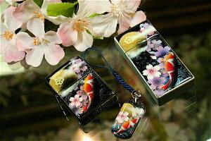 【桜色】携帯灰皿「絵」匠の技!桜色限定シガレットケース!職人の手作り!和柄オリジナル商品です!