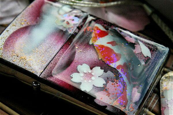 【名入れ】和柄zippo「都」匠の技!桜色限定ジッポ!職人の手作り!オリジナル和風ライター!ギフト&プレゼント&自分のご褒美!