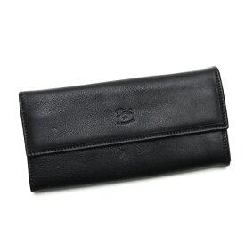 イルビゾンテ IL BISONTE 財布 メンズ ロングウォレット C0918 シンプル レザーフラップ 長財布 本革 レディース 153 135 ブラック ブランド 新品 未使用