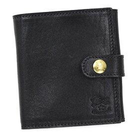 イルビゾンテ IL BISONTE 財布 メンズ 二つ折り財布 本革 C0955 小銭入れ付 二つ折り ウォレット レディース 153 ブラック ブランド 新品 未使用