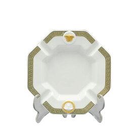 ヴェルサーチェ 灰皿 アッシュトレイ 27233 GORGONA ホワイト ゴールド 13.5cm プレゼント 父の日 誕生日