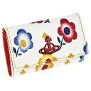 ヴィヴィアン ウエストウッド Vivienne Westwood キーケース 51020001 O212 DERBY KEY CASE ダービー 4連キーケース ANDREAS FLOWERS …