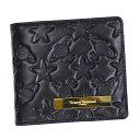 ヴィヴィアンウェストウッド 二つ折り財布 コンビニ財布 コンパクト 730 STAR & ORB スター オーブ NERO 黒 ブラック レザー 493362 本…