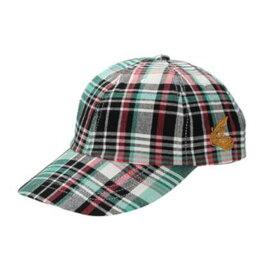 ヴィヴィアン・ウエストウッド Vivienne Westwood ANGLOMANIA アングロマニア 帽子 カットラスORB刺繍 キャップ マドラスチェック グリーン系チェック
