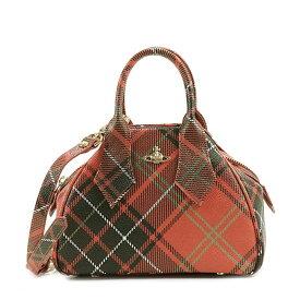 ヴィヴィアンウエストウッド Vivienne Westwood 42010014 DERBY SMALL HAND BAG ダービー 2way スモール ハンドバッグ 斜めがけショルダーバッグ CHARLOTTE レッド系タータンチェック柄