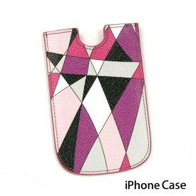 エミリオプッチ EMILIO PUCCI 26SK41 26160 IPHONEケース iphoneケース モバイルケース ケータイケース ピンク系【ブランド】