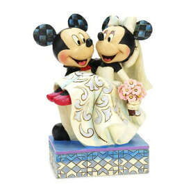 エネスコ enesco. ディズニー・トラディション Disney Traditions ミッキー・マウスとミニー・マウスのウェディング 結婚式 Mickey & Minnie Wedding 木彫り調フィギュア ミッキーマウス ミニーマウス ギフト 出産祝い 男の子 女の子 おもちゃ 誕生日 1歳 2歳 3歳 4歳 5歳