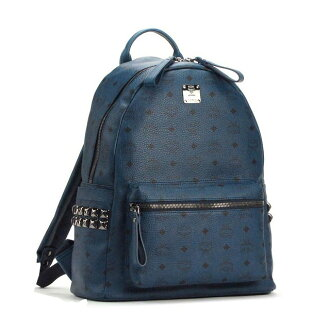 MCM 男女背包 MMK4AVE38 BP KH GN001中号铆钉双肩包 STARK BACKPACK SIDE STUD MEDIUM 海军蓝