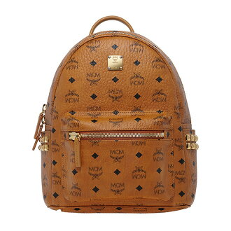 MCM Luc Korea s size mini studded Brown mens Womens Bag MCM elegante MMK5SVE37 BP CAM CO001 small backpack stark STARK BACKPACK STUD SMALL backpack daypack backpack Cognac Tan COGNAC