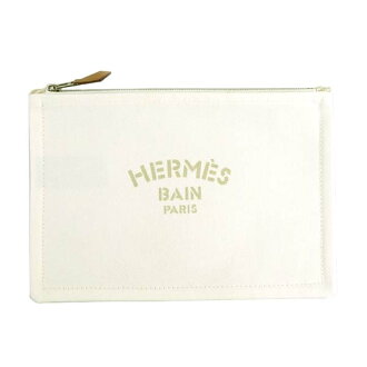 Hermes HERMES clutch bag Flat Yachting PM 102635M Yachting pouch BAIN Bernd ivory white