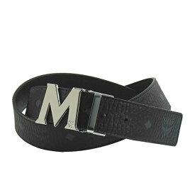 エムシーエム MCM リバーシブル ベルト MXB6AVI03 BK001 クラウス リバーシブル ヴィセトス ベルト BLACK ブラック+シルバー