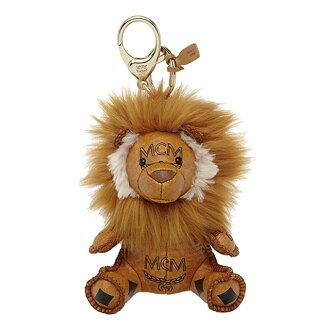 MCM MCM elegante Keychain plush Keyring CHARM MYZ5SVI05 VISETOS VI sets charm lion Cognac COGNAC camel