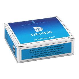シャシ SHASHI コーンタイプ DENIM デニム 1箱 約10個入り 単品 インド香 インセンス