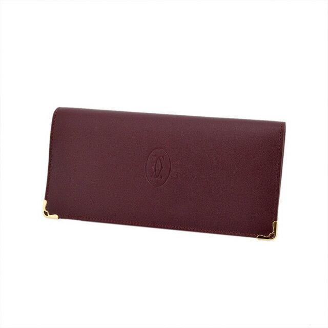 カルティエ Cartier L3001362 二つ折り 長財布 Must de Cartier zipped international wallet スモールレザーグッズ マスト ドゥ カルティエ ジップ付 インターナショナル ワレット メンズ レディース 本革 革 ブランド 新品