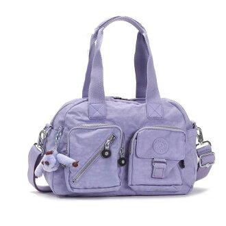 吉卜林挎包对角在女装手袋吉卜林 2way 挎包尼龙挎包光 K13636 DEFEA 丁香紫色