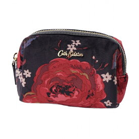 キャスキッドソン Cath Kidston ポーチ 化粧ポーチ マルチポーチ 786331 VELVET MAKE UP BAG ベルベット メイクアップ バッグ BLACK Jacquard Rose ブラック+レッド系マルチ