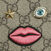 Gucci 古奇 431392 苍白 K05RG8790 拉链风格钱包米色 + 粉红色钱包女士新粉红心形拉链周围 GG 帆布薄流行规律新特色 20s 30s 40s 提出了圣诞节的 GG 图案皮革品牌时尚