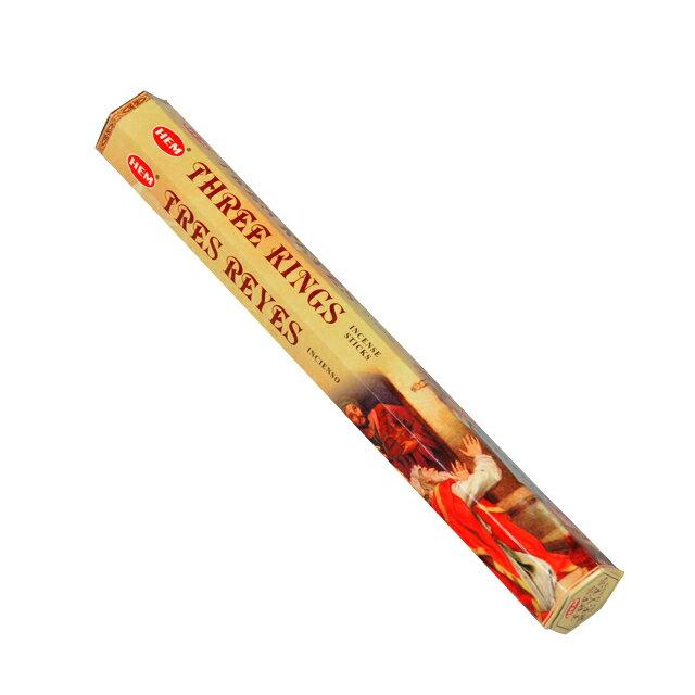 ヘム HEM スリーキングス/THREE KINGS お香 スティック インド香 インセンス エスニック香 アジアン雑貨 アロマ 柔らかな甘み スティックタイプ 1箱/スティック約20本