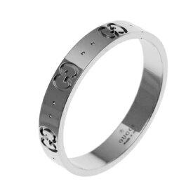 グッチ GUCCI アイコン リング ホワイトゴールド 073230 09850 9000 K18WG 指輪 icon レディース 女性 メンズ 男性 ユニセックス ギフト プレゼント ウエディング 結婚指輪 新品
