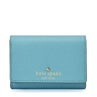 凯特黑桃钱包对开kate spade CEDAR STREET DARLA键环多情况硬币袋月票夹卡片匣淡蓝色024213099 110