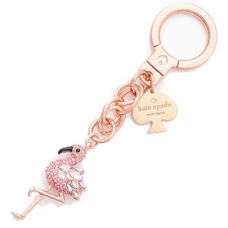Kate spade kate spade NEW YORK Kate spade key fob Flamingo Keychain Keyring key ring KATE SPADE KEY FOBS FLAMINGO KEYCHAIN 1KRU0091-UNS-673 pink / multi PINK MULTI