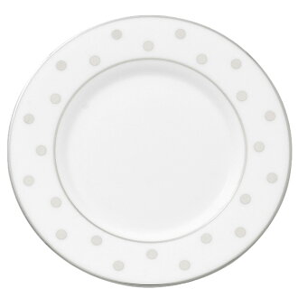 Kate spade kate spade NEW YORK Larrabee road Platinum saucer Platinum color the dish LARABEE ROAD PLATINUM SAUCER white WHITE tray dish plate