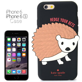 Kate spade kate spade NEW YORK Silicon iPhone 6 / 6 s case Silicon Hedgehog the Hedgehog SILICONE IPHONE 6 / 6 s CASE SILICONE HEDGEHOG Black BLACK iPhone 6 case iPhone case iPhone cases 6 brand-new women
