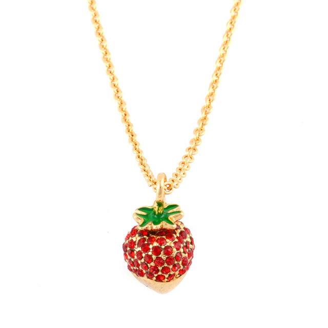ケイト・スペード kate spade NEW YORK wbrua787-616 outside the box strawberry mini pendant チョコがけイチゴモチーフ ペンダント ネックレス レディース ブランド 正規 新作
