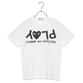 コムデギャルソン COMME des GARCONS Tシャツ ティーシャツ メンズ az-t068-051-1 T-SHIRT PLAY LOGO プレイ ロゴ 半袖 WHITE ホワイト