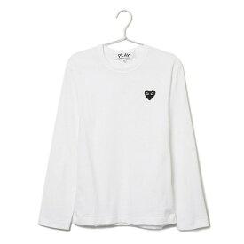 コムデギャルソン COMME des GARCONS Tシャツ ロンT メンズ PLAY HEART LOGO プレイハートロゴ 長袖 AZ T120 051 WHITE×BLACK ホワイト×ブラックハート