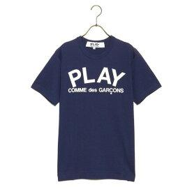 コムデギャルソン COMME des GARCONS Tシャツ メンズ PLAY LOGO T-SHIRT プレイロゴ 半袖 AZ T176 051 NAVY×WHITE ネイビー×ホワイトロゴ