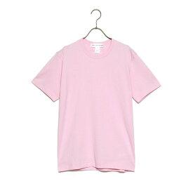 コムデギャルソン COMME des GARCONS SHIRT 半袖 Tシャツ S26107 SHIRT ROUND NECK TEE メンズ ピンク トップス ショートスリーブ ロゴ 新品