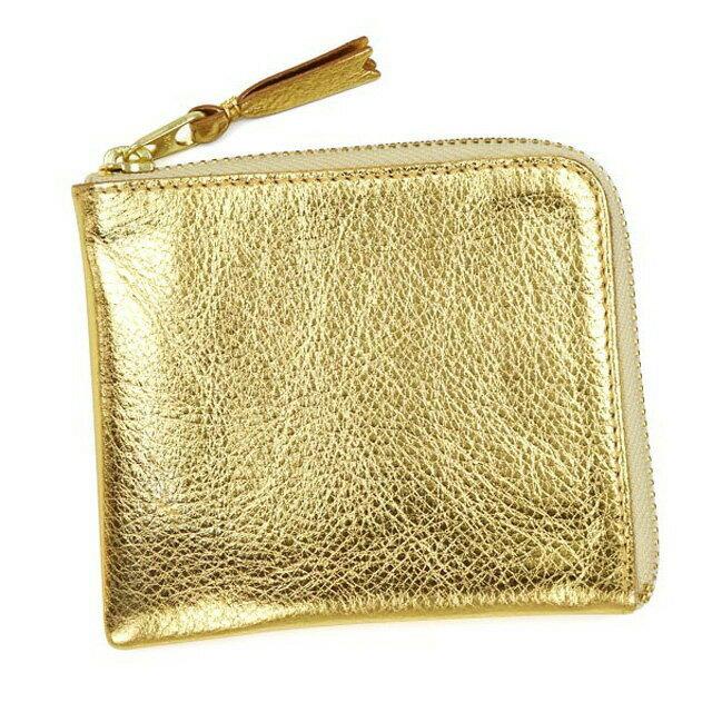コムデギャルソン COMME des GARCONS 財布 SA3100G GOLD AND SILVER ゴールドアンドシルバー L字ファスナー式 コインケース 小銭入れ GOLD ゴールド