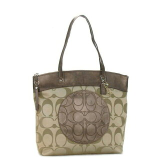 Coach COACH tote bag F18335 SKHCP khaki Tote Laura signature shoulder bag bags COACH outlet fs2gm