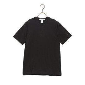 コムデギャルソン COMME des GARCONS Tシャツ ティーシャツ メンズ w26117-1 COTTON JERSEY PLAIN WITH CDG LOGO PRINT BACK コットン ジャージー プレーン ウィズ CDGロゴ プリントバック 半袖 BLACK ブラック