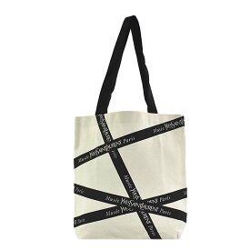 サンローラン SAINT LAURENT バッグ トートバッグ ショッピングバッグ エコバッグ ショルダーバッグ SL1 MUSEE YSL PARIS ミュゼ イヴサンローラン パリ オフホワイト+ブラック