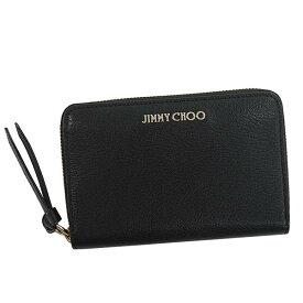 ジミーチュウ JIMMY CHOO 二つ折り財布 CHRISTIE GRZ ラウンドファスナー コインケース クリスティ ミニ財布 ブラック 黒 BLACK プレゼント ギフト レディース メンズ 新品
